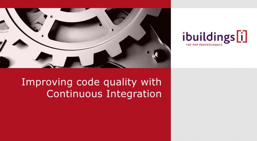 Improving code quality with Continuous Integration (PHPBenelux Usergroup meeting)