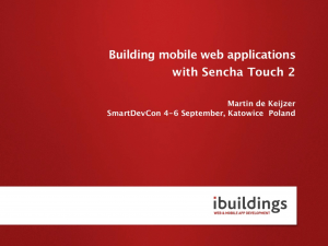Building mobile web applications with Sencha Touch 2 V2