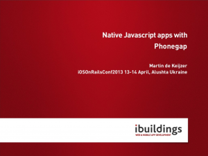 Native Javascript apps with Phonegap