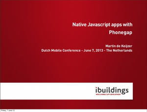 Native Javascript apps with Phonegap V2