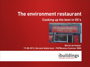 The environment restaurant. Cooking up the best in OS's.