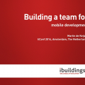 Building a team for mobile development